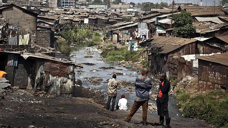 Mathare slum in Nairobi