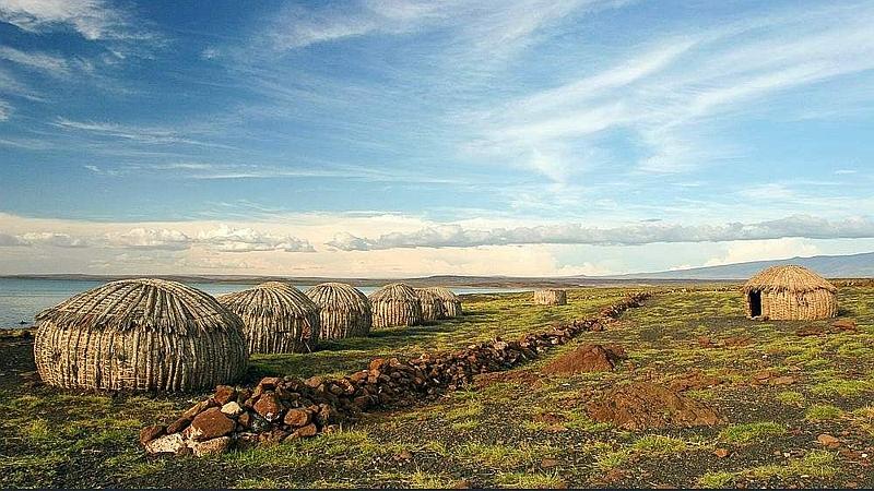Villaggio. Lago Turkana