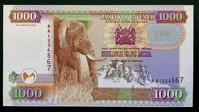 Nuova banconota del Kenya da 1000 KShs