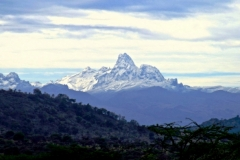 Monte Kenya-Vista dall'Altopiano Laikipia
