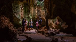 Caves of slaves in the village of Shimoni in Kenya