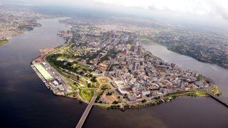 Isola di Mombasa Kenya-Vista aerea