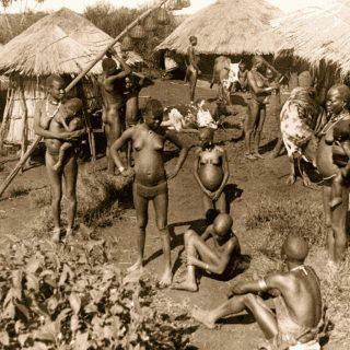 Villaggio Kavirondo nei pressi del Lago Vittoria Kenya